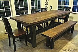 Image of: Dining Room Narrow Trestle Dining Table Narrow Rectangular Inside  Farmhouse Dining Table Plans