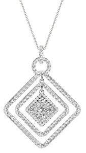 diamond square pendant 1 70 carat on 18k white gold p20244w image 0