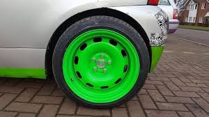 Banded steelies with centre caps #vwlupo | Vw wagon, Volkswagen, Car wheel