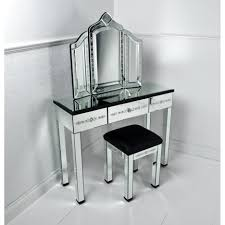 Mirrored Bedroom Bench Corner Desk With Mirror Top And Clear Base Products Jan Gleysteen