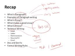 lecture writing paragraphs ppt video online recap what is paragraph examples of paragraph writing what is essay