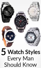 5 watch styles every man should know men s guide to types of 5 watch styles every man should know men s guide to types of watches sizes prices bands