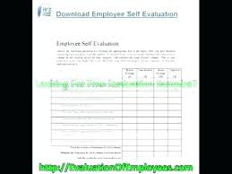 Employee Self Assessment Samples Appraisal Examples Free Evaluation ...