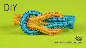 easy infinity square knot yin yang friendship bracelet tutorial
