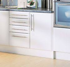 beveled edge satin matt white kitchen cupboard doors fit howdens mfi b q magnet