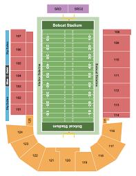 Odu Football Stadium Seating Chart Bobcat Stadium Seating Chart Bozeman