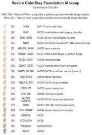 Revlon Colorstay 24 Hour Foundation Color Chart