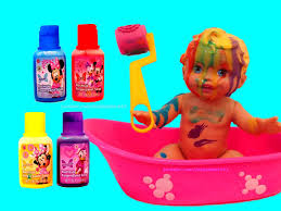 little mommy bubbly bath time with minnie bath paint itsplaytime612 you