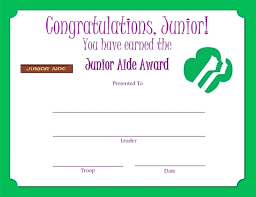 Junior Aide Award Certificate Detective Template Templates For Word ...