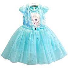 Princess Paradise Costume Size Chart Us 4 78 35 Off Girl Dresses Summer Brand Baby Kid Clothes Princess Anna Elsa Dress Snow Queen Cosplay Costume Party Children Clothing New Years In