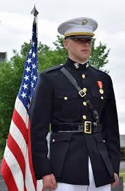 United States Marine Officer Ellefson Commissioned As Officer In The United States Marine