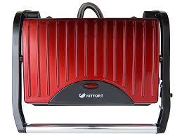 <b>Бутербродница Kitfort</b> КТ-1609 <b>Panini Maker</b>, красная