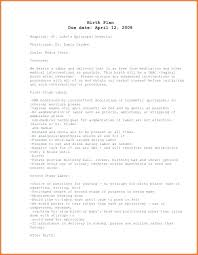C Section Birth Plan New After C Section Detail Cesarean Birth Plan Template