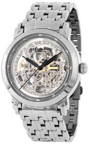 "amazon com stuhrling original men s 165a 33112 lifestyle stuhrling original men s ""classic winchester elite"" stainless steel automatic skeleton watch by stuhrling original"
