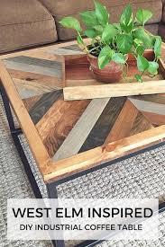 Diy Industrial Coffee Table West Elm Inspired Industrial Diy Coffee Table