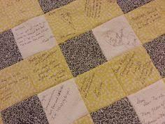 My beautiful wedding signature quilt. | My Wedding | Pinterest ... & Signature Quilt custom made for Weddings by MemoriesOnMaterial Adamdwight.com