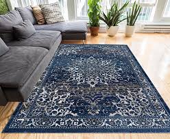 coverly blue beige vintage medallion traditional persian oriental area rug 5 x 7 5