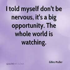 Nervous Quotes Inspiration Gilles Muller Quotes QuoteHD