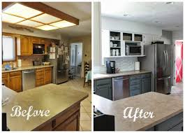 White dove on the kitchen cabinets and island. Remodelaholic Grey And White Kitchen Makeover