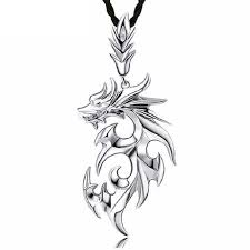 3d dragon pendant necklace silver