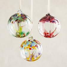 recycled glass tree globes wishes