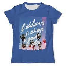 """Мужские футболки c дизайнерскими принтами """"california"""" - <b>Printio</b>"""
