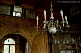 chandelier in the dining room