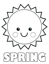 Spring Free Coloring Pages Beautiful Spring Coloring Page Free