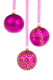 Pink Christmas Baubles Free Stock Photo - Public Domain Pictures