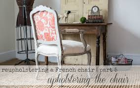 reupholstering a french chair part 5 upholstering the chair you