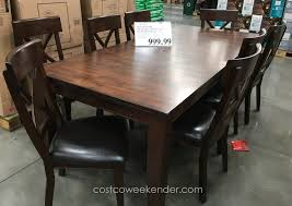 96 dining room table sets costco enjoyable lenoir piece counter throughout terrific solid wood dining chairs