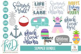 Make unlimited changes to your logo when you subscribe to looka's brand kit. Beach Svg Lake Svg Camping Svg Summer Bundle Svg 87484 Cut Files Design Bundles