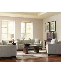Kenton Fabric Sofa Living Room Furniture Collection Big fluffy furniture burgundy fabric living room furniture