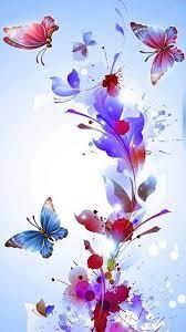 Butterfly wallpaper iphone, Flower ...