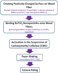 Flow Chart Showing Piezoelectric Paper Fabrication Process
