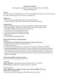 Updated Surgical Technologist Resume. CHRISTINA MARQUES 104 Luttgen Place,  Apartment 1, Linden, New Jersey 07036 (732 ...