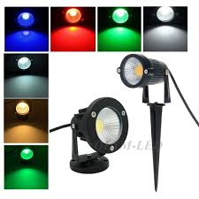 Us 5 16 35 Off 220v 110v Outdoor Led Garden Light Cob Led Lawn Lamp 3w 5w 7w 9w Waterproof Spike Garden Led Light Outdoor Warm White Rgb In Led Lawn