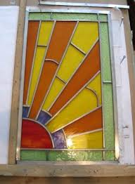 new art deco stained glass panel being made