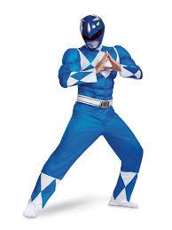 Light Blue Power Ranger Costume Mighty Morphin Power Rangers Classic Muscle Blue Ranger