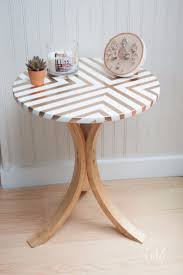 ikea side table makeover with spray paint