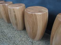 american oak stools occasional tables