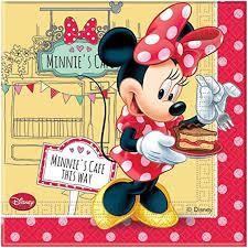 20 Disney Minnie Mouse Cafe compleanno 33 cm tovaglioli usa e ...