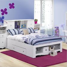 kids full size beds with storage. Interesting With White Bed Frame With Shelf And Drawer Plus Shelves Cabinet In  Headboard For Kids Full Size Beds With Storage