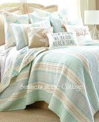 Coastal Living Quilt Bedding Coastal Quilts Bedding Aqua Blue ... & Coastal Living Quilt Bedding Coastal Quilts Bedding Aqua Blue Sandy Taupe Coastal  Quilt Set Coastal Collection Adamdwight.com