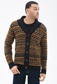 Mens Patterned Cardigan