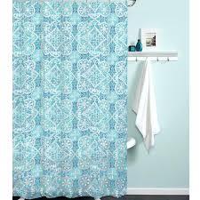morocco teal blue vinyl shower curtain target