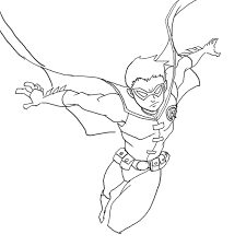 Small Picture robin superhero coloring page Printable Coloring Page Kids
