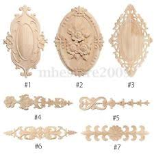 wooden appliques for furniture. Wood Carved Applique Frame Onlay Furniture Decoration Unpainted Multi-Patterns Wooden Appliques For U