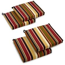 blazing needles outdoor all weather uv resistant 4 piece patio chair cushion set com