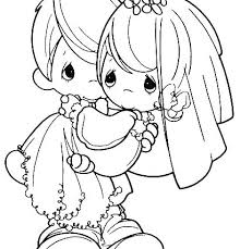 Wedding Coloring Pages Free Printable Bride And Groom Home